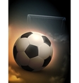 Soccer Ball And Steel Goal Background vector image