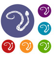 spotted snake icons set vector image vector image
