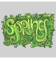 Spring hand lettering sketch vector image