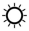sun the black color icon vector image vector image
