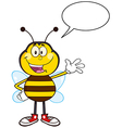 Talking Bumble Bee Cartoon vector image vector image