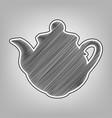 tea maker kitchen sign pencil sketch vector image vector image