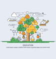 tree knowledge vector image vector image