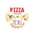 typography flat pizzeria house logo creative vector image vector image