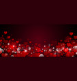 valentines day background design vector image vector image