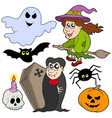 various halloween images 1 vector image