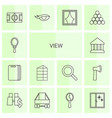 view icons vector image vector image