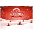 vintage red christmas landscape background vector image vector image