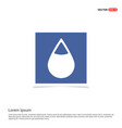 water drop icon - blue photo frame vector image