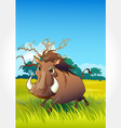 Wild animal set 21 of 32 - boar vector | Price: 1 Credit (USD $1)