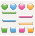 blank button template vector image