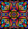 abstract mosaic pattern in bright colors vector image
