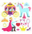 accessories for princess party and fairy prince vector image