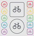 Bicycle icon sign symbol on the Round and square vector image
