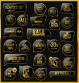 black and gold sale labels collection vector image vector image