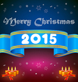 Blue ribbon 2015 Christmas background vector image vector image