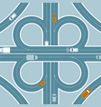 car gps monitoring top view concept vector image vector image