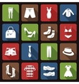 Clothes icons set flat vector image vector image