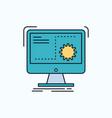 command computer function process progress flat vector image vector image