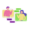 connection people video network from home vector image