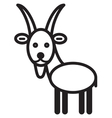 Cute animal goat vector image
