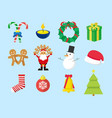 cute christmas graphic pack vector image