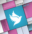 Dove icon sign Modern flat style for your design vector image vector image