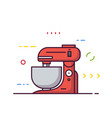 food processor line style vector image