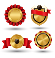 Golden Premium Quality Red Best Labels Collection vector image