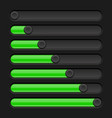green and black slider bars settings on control vector image vector image