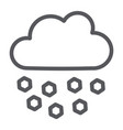 hail line icon weather and meteorology cloud vector image vector image