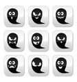 Halloween ghost buttons set - scary vector image vector image