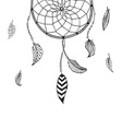 hand drawn Dreamcatcher vector image vector image