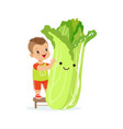 happy boy having fun with fresh smiling chinese vector image vector image