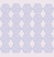 hexagon shape repeating seamless pattern design vector image