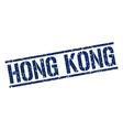 Hong Kong blue square stamp vector image