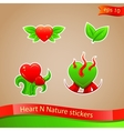 I love nature stickers vector image vector image