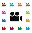isolated cinema icon cinematography vector image