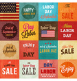 Labor Day Icon Set vector image