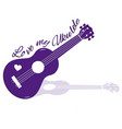 laser die cutting ukulele with texht vector image