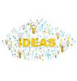 light bulbs ideas concept lightbulb lamps vector image