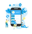 mobile online education app e-learning concept vector image vector image