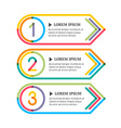 Modern option banners Colorful lines and numbers vector image