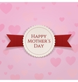 Mothers Day Label with Ribbon vector image