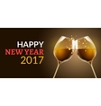 New Year eve 2017 Holiday of two vector image