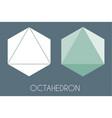 octahedron platonic solid sacred geometry vector image