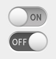 on and off icons toggle switch interface buttons vector image vector image