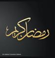 ramadan kareem simple typography on a black vector image vector image