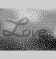 realistic of raindrops on vector image vector image