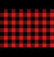 red and black lumberjack seamless pattern vector image
